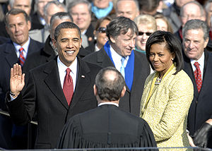 With his family by his side, Barack Obama is s...